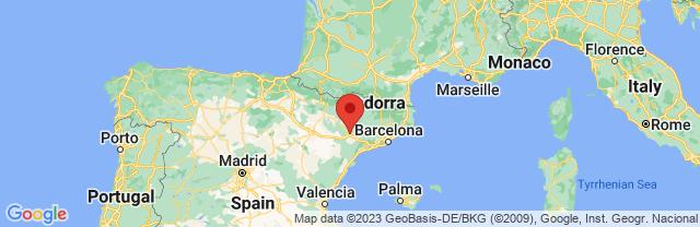 Landkaart Lleida