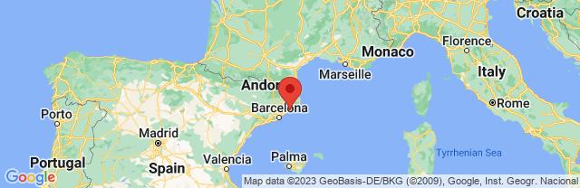 Landkaart Pineda de Mar