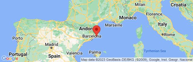 Landkaart Lloret de Mar