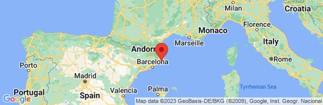 Landkaart Tossa de Mar