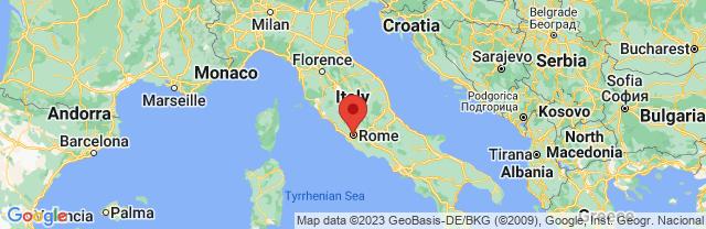 Landkaart Rome