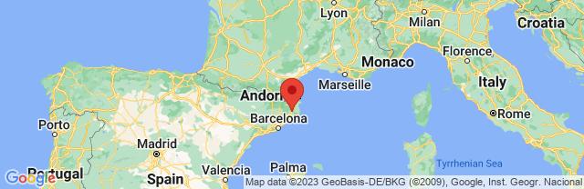 Landkaart Gerona