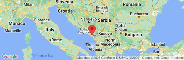 Landkaart Cetinje