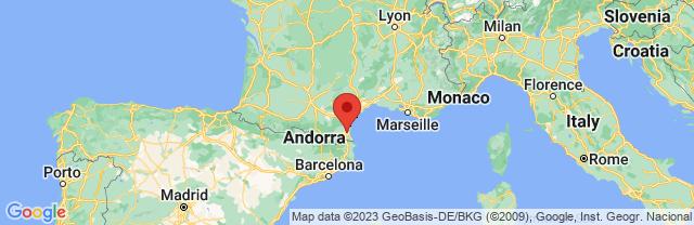 Landkaart Perpignan