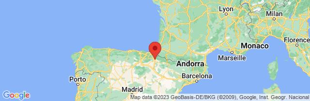 Landkaart Pamplona