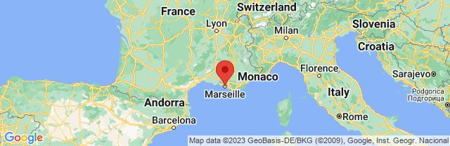 Landkaart Marseille