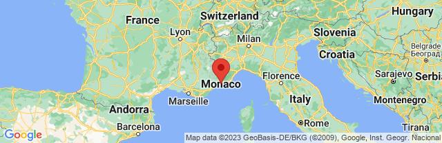 Landkaart Monaco Ville