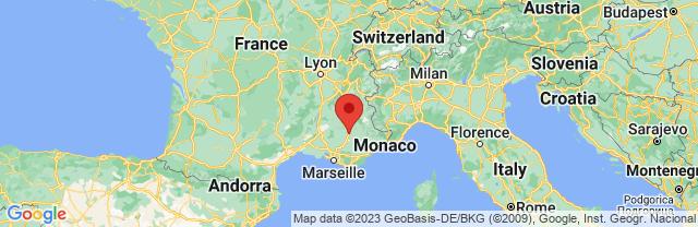 Landkaart Provence-Alpes-Côte d'Azur