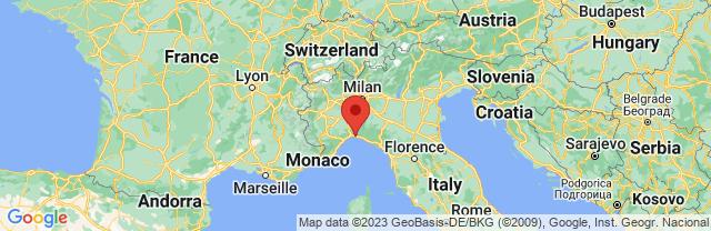 Landkaart Genua