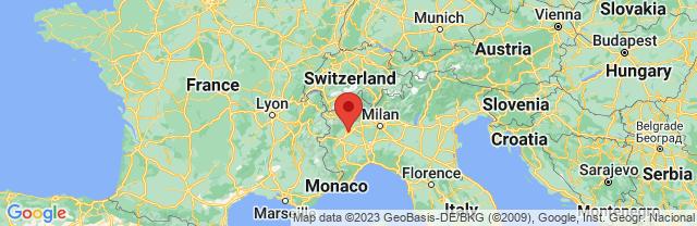Landkaart Piemonte