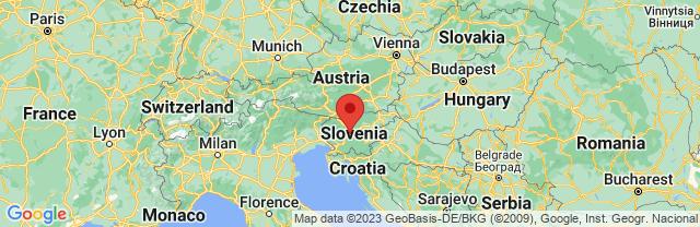 Landkaart Ljubljana