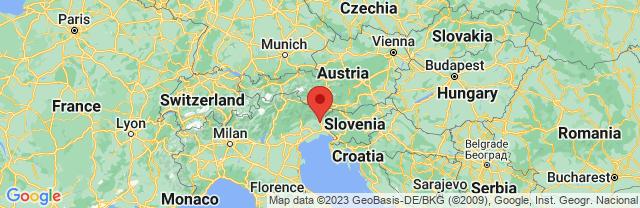 Landkaart Friuli-Venezia-Giulia