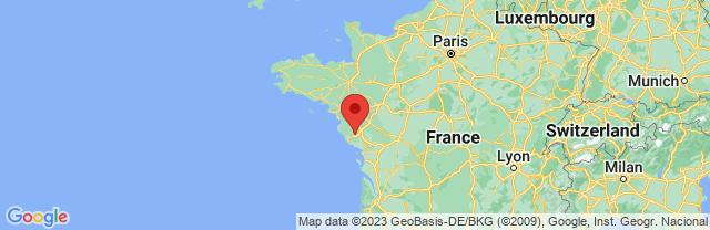 Landkaart Vendée