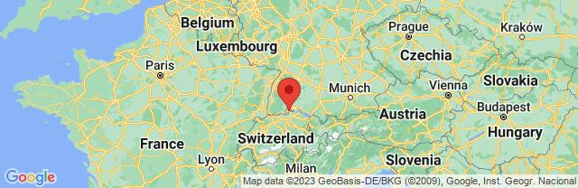 Landkaart Schaffhausen