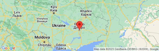 Landkaart Dnjepropetrovsk