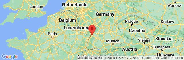 Landkaart Karlsruhe