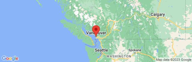 Landkaart Vancouver
