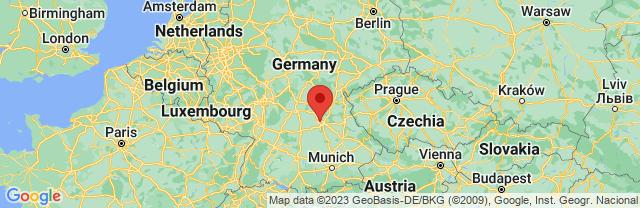 Landkaart Neurenberg