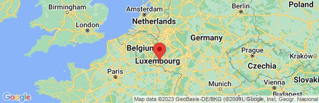 Landkaart Larochette