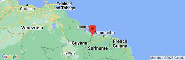 Landkaart Nieuw Nickerie