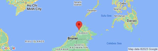 Landkaart Kota Kinabalu