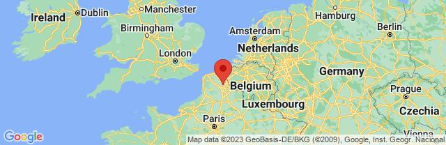 Landkaart Nord-Pas-de-Calais-Picardie
