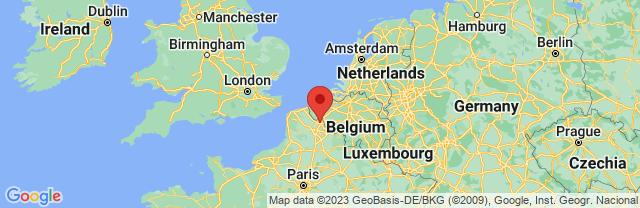 Landkaart Lille