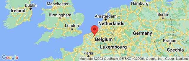Landkaart Kortrijk