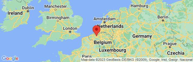 Landkaart Gent