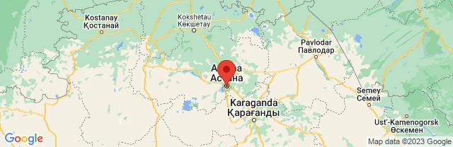 Landkaart Astana