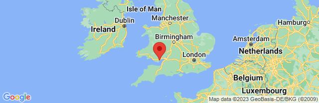 Landkaart Cardiff