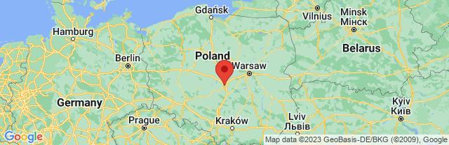 Landkaart Lodz
