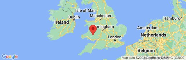 Landkaart Brecon