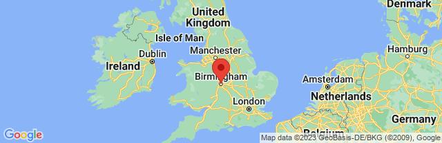 Landkaart Birmingham