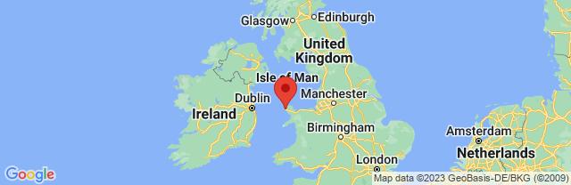 Landkaart Holyhead