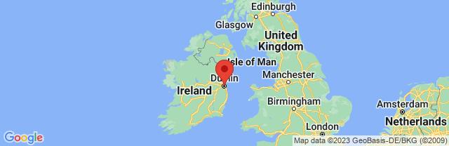 Landkaart Dublin