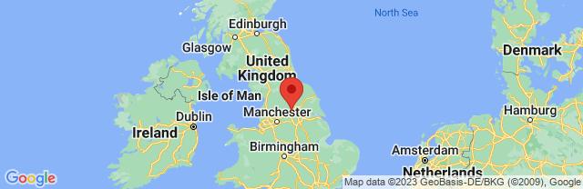 Landkaart Leeds