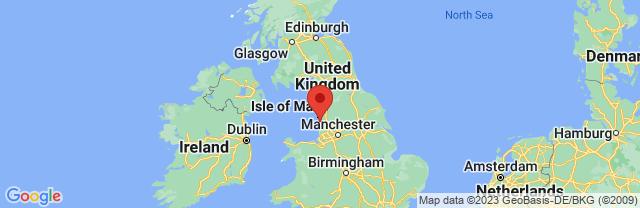 Landkaart Blackpool