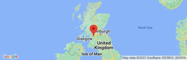 Landkaart Glasgow