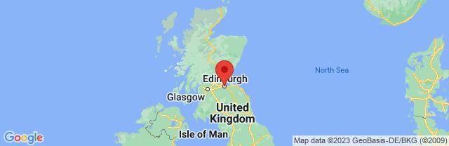 Landkaart Edinburgh