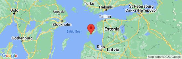 Landkaart Saaremaa