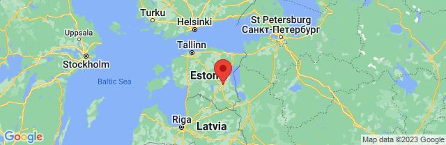 Landkaart Tartu