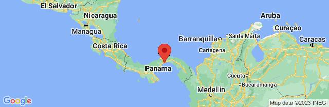 Landkaart Panama-stad