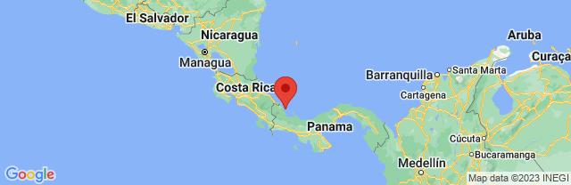 Landkaart Bocas del Toro