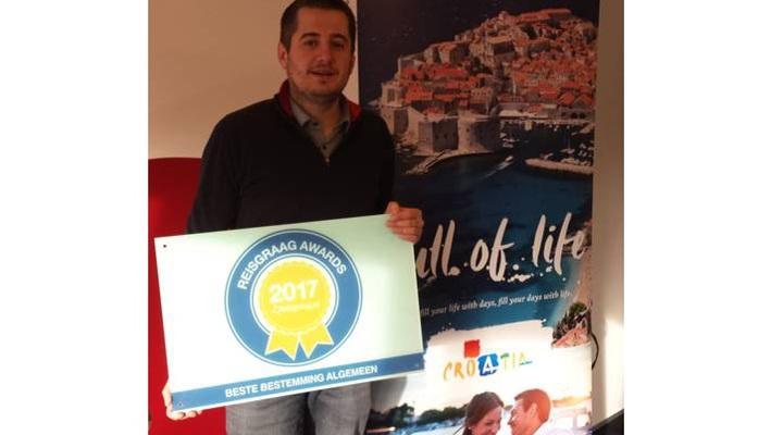 Kroatisch Verkeersbureau met de Reisgraag Award