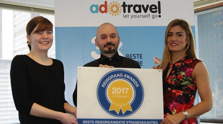 ADO Travel met de Reisgraag Award 2017