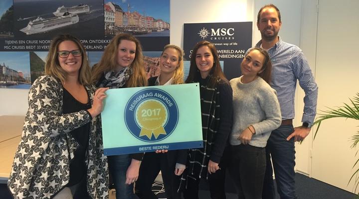 MSC Cruises met de gewonnen Reisgraag Award 2017