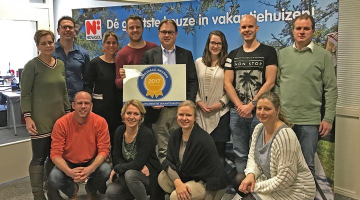 NOVASOL met de Reisgraag Award 2017