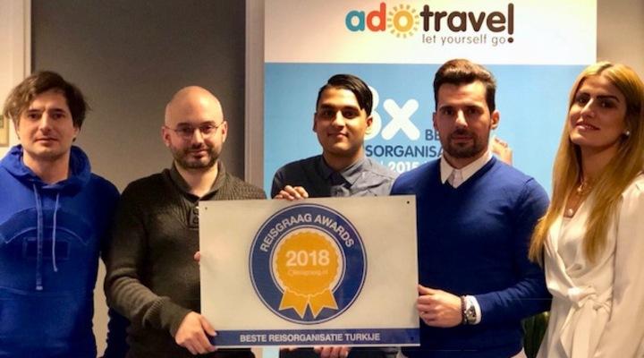 Ado Travel wint Reisgraag Award 2018
