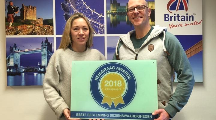Engeland wint Reisgraag Award 2018